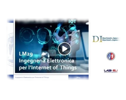 Presentazione Ingegneria elettronica per l'Internet-of-Things (LM29)